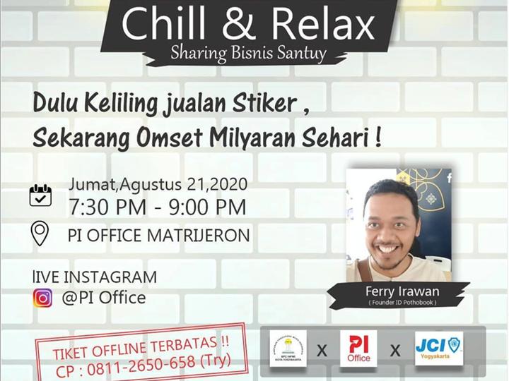 Chill and Relax : Founder ID Pothobook ; Dulu Keliling Jualan Stiker, Sekarang Omset Milyaran Sehari!
